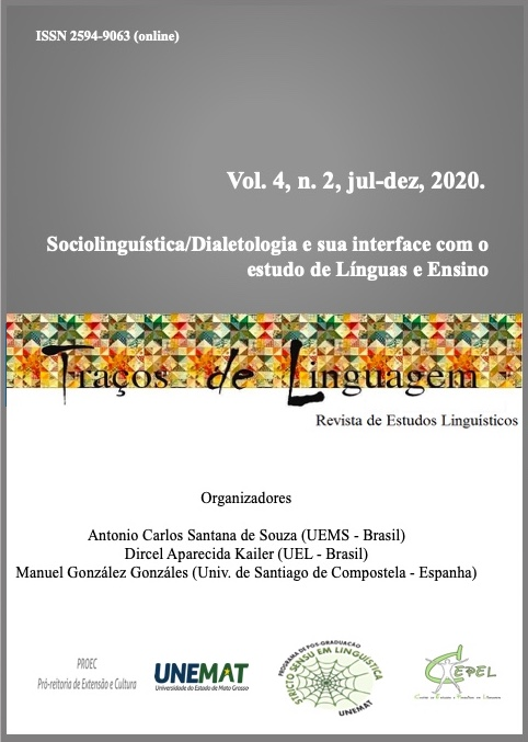Visualizar v. 4 n. 2 (2020): Sociolinguística/Dialetologia e sua interface com o estudo de Línguas e Ensino